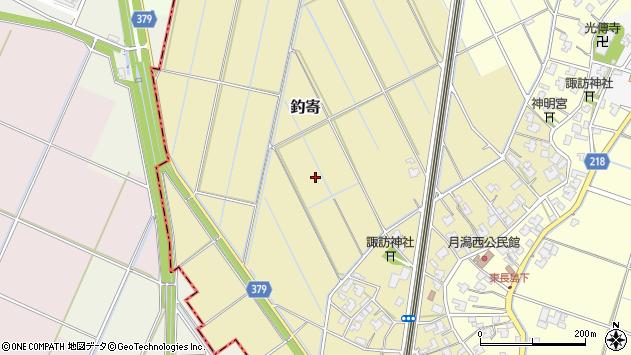 〒950-1313 新潟県新潟市西蒲区釣寄の地図