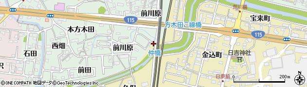 福島県福島市郷野目(向川原)周辺の地図