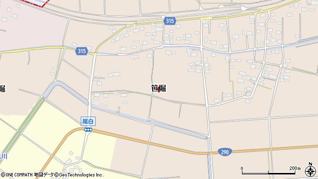 〒959-1611 新潟県五泉市笹堀の地図