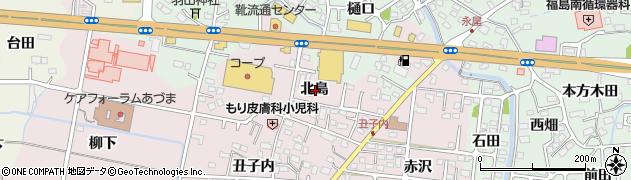 福島県福島市大森(北島)周辺の地図