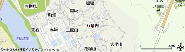 福島県福島市小倉寺(八月内)周辺の地図