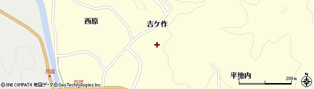 福島県伊達市月舘町布川(吉ケ作)周辺の地図