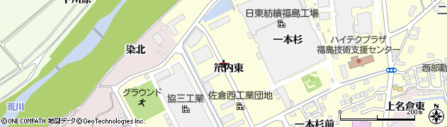福島県福島市佐倉下(笊内東)周辺の地図