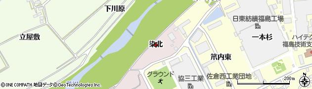 福島県福島市上名倉(染北)周辺の地図