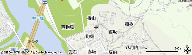 福島県福島市小倉寺(椿山)周辺の地図