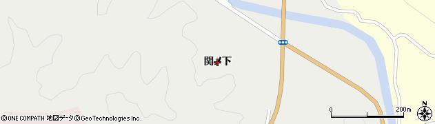 福島県伊達市月舘町御代田(関ノ下)周辺の地図