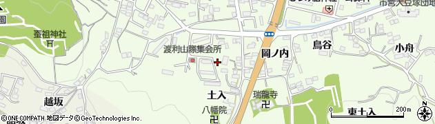 福島県福島市渡利(平ケ森)周辺の地図