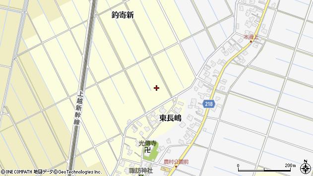 〒950-1312 新潟県新潟市西蒲区釣寄新の地図