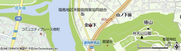 福島県福島市渡利(金山下)周辺の地図