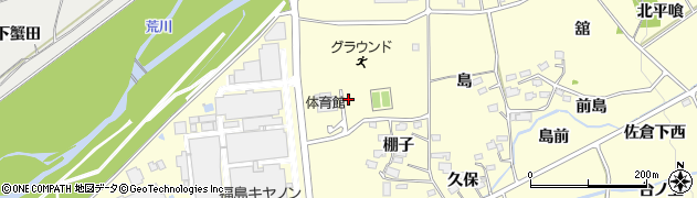 福島県福島市佐倉下(金沢前)周辺の地図