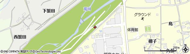 福島県福島市佐倉下(中田)周辺の地図