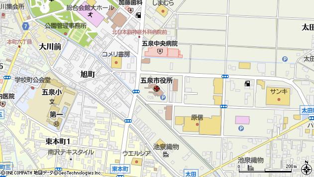 〒959-1600 新潟県五泉市(以下に掲載がない場合)の地図