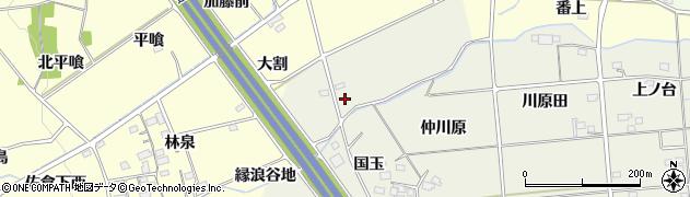福島県福島市成川周辺の地図