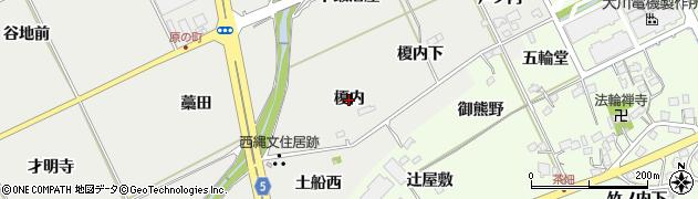 福島県福島市土船(榎内)周辺の地図