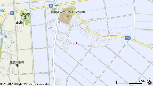 〒959-1604 新潟県五泉市論瀬の地図