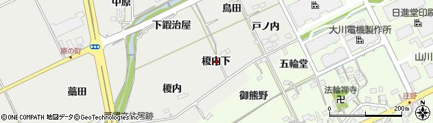 福島県福島市土船(榎内下)周辺の地図