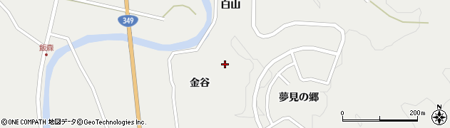 福島県伊達市月舘町御代田(金谷)周辺の地図