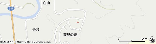 福島県伊達市月舘町御代田(夢見の郷)周辺の地図