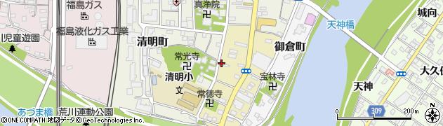 福島県福島市柳町周辺の地図