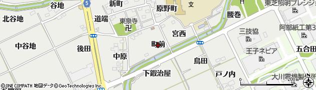 福島県福島市土船(町前)周辺の地図