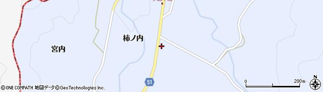 福島県伊達市霊山町上小国(柿ノ内)周辺の地図