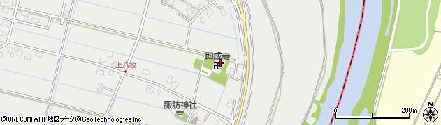 即成寺周辺の地図