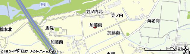 福島県福島市佐倉下(加藤東)周辺の地図
