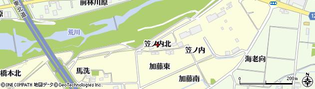 福島県福島市佐倉下(笠ノ内北)周辺の地図