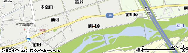 福島県福島市桜本(前川原)周辺の地図
