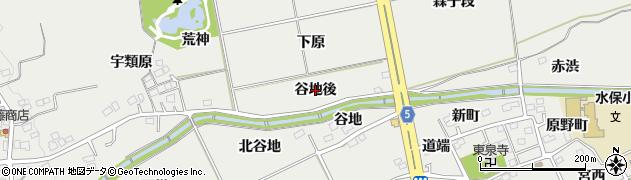 福島県福島市桜本(谷地後)周辺の地図