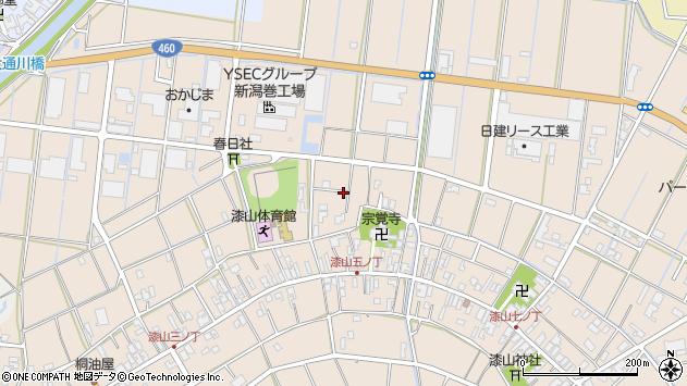 〒953-0054 新潟県新潟市西蒲区漆山の地図