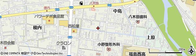 福島県福島市八木田(中島)周辺の地図