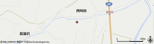 福島県伊達市月舘町御代田周辺の地図