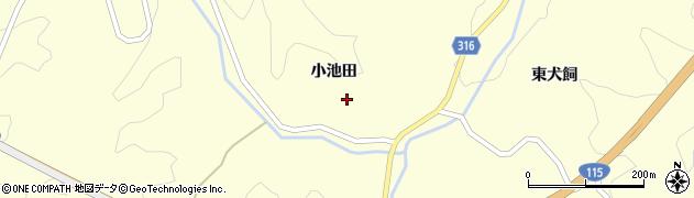 福島県伊達市月舘町布川(小池田)周辺の地図