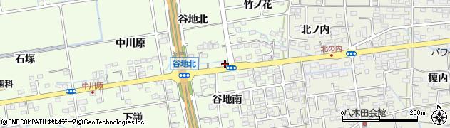 福島県福島市仁井田(谷地下)周辺の地図