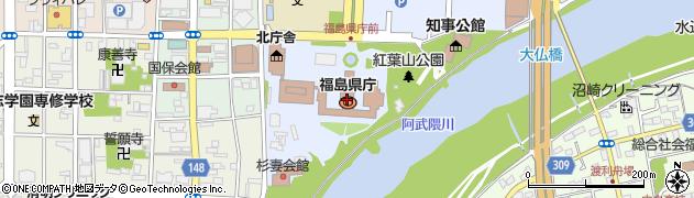 福島県周辺の地図