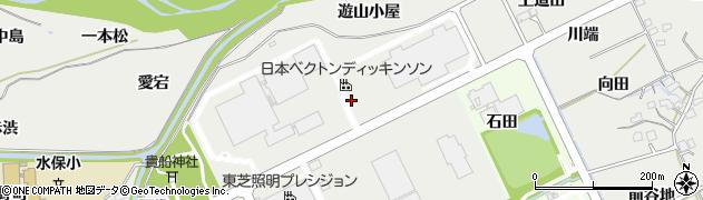 福島県福島市土船(五反田)周辺の地図