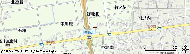 福島県福島市仁井田(谷地)周辺の地図