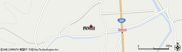 福島県伊達市月舘町御代田(四舛田)周辺の地図