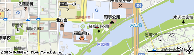 福島県福島市杉妻町周辺の地図