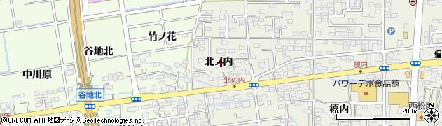 福島県福島市八木田(北ノ内)周辺の地図