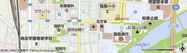 福島県庁病院局 病院経営課・企画周辺の地図