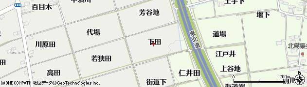 福島県福島市桜本(下田)周辺の地図