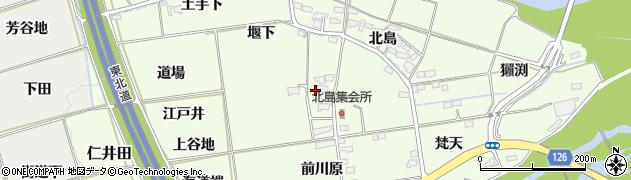 福島県福島市仁井田(雲雀古屋)周辺の地図