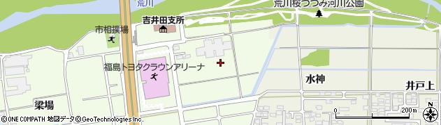 福島県福島市仁井田(下川原)周辺の地図