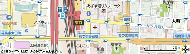 福島 中合インディヴィ周辺の地図