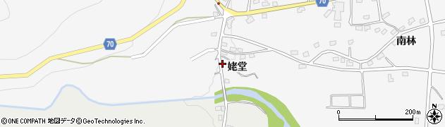 福島県福島市在庭坂(姥堂)周辺の地図