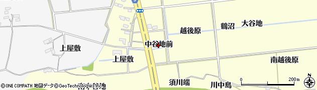 福島県福島市二子塚(中谷地前)周辺の地図