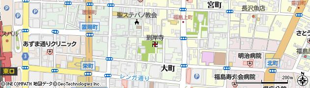 到岸寺周辺の地図