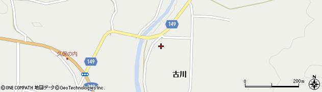福島県伊達市月舘町御代田(古川)周辺の地図